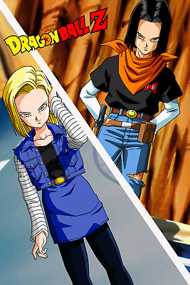 31.5/'/') Dragon Ball Super Android 18 Wall Scroll Poster free shipping(23.6/'/'