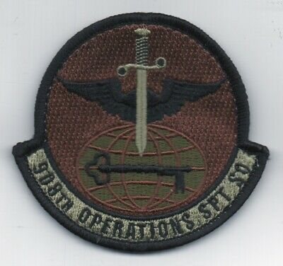 """3/"""" X 3/"""" hooked backing USAF Patch 127th WING A-10 Morale patch in OCP colors"""