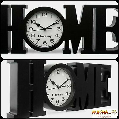 Champion Home Style Table//Wall Clock Red 39 x 14.5 x 4 cm Plastic