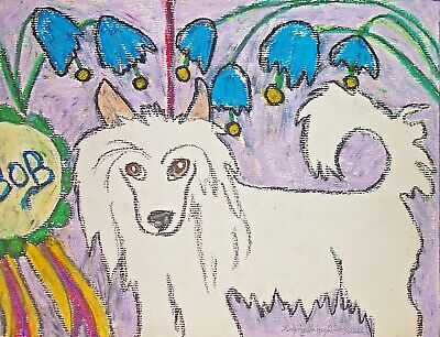 Dog Art Print 5 x 7 Chinese Crested Winner Takes All by artist KSams