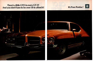 "24""x36"" 1971 Pontiac GT-37 ad all-weather banner"