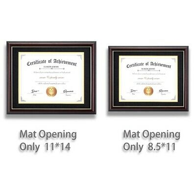 Classic Document Diploma Display Certificate Walnut Frame 8 5 X 11 Glass 10 99 Picclick