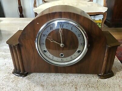 Vintage Bentima Mantel Clock With Westminster Chimes For Spares Or Repairs