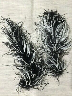 Details about  /1920/'s Handmade Antique German Feather Black Plume Millinery Hat Trim Craft