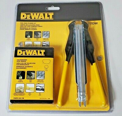 "P7DW 7"" Hog Ring Plier Kit Dewalt w/ 11/16"" Hog Rings"