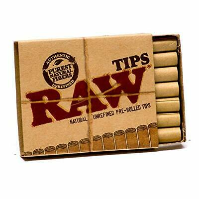 5 RAW PRE ROLLED TIPS Natural Prerolled for Cigarette Filter Rolling Paper Packs