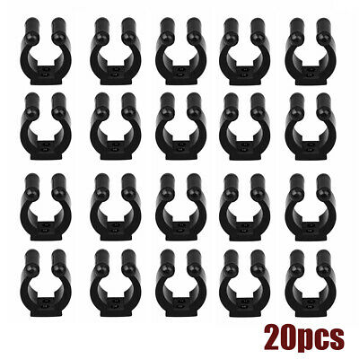 20-Pack Wall Mounted Fishing Rod Storage Clips Clamps Holder Rack Organizer JA