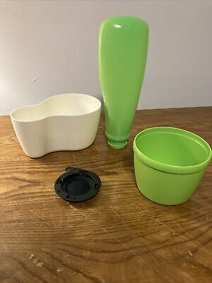 Pots Vintage Tupperware Trio Planters and Trays Herb Garden You Select