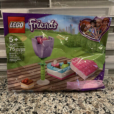 LEGO FRIENDS CHOCOLATE BOX AND FLOWER SEALED BAG NEW FAST SHIPPING 2 LOT OF