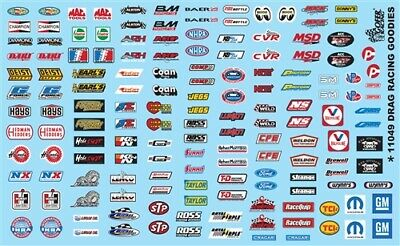 GOFER RACING STUFF SHEET #3 ASSORTED DECALS FOR 1:24 AND 1:25 SCALE MODEL CARS