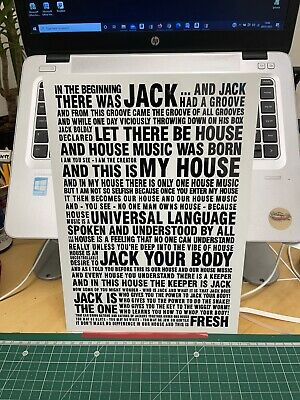 house music techno dance In the beginning there was Jack a4 aluminium sign