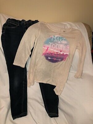 *NEW* JUSTICE GIRLS SIZE 10 12 MEET ME IN NYC TEE /& PATTERN MESH LEGGINGS OUTFIT