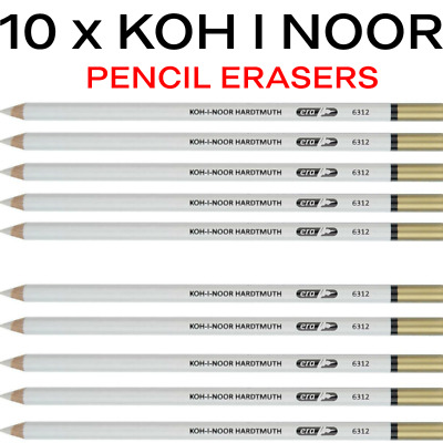 KOH-I-NOOR ERASER RUBBER PENCIL Precise Accurate erasing Art Sketching 6312
