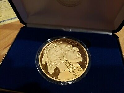 2020 Chinese YEAR OF THE RAT 24K Gold Clad $50 American Buffalo Tribute Coin BOX