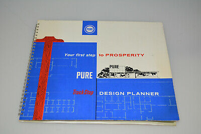 Rare Pure Oil Truckstop Design Planner Dealer Promo Book Building Advertising