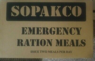 SOPAKCO Case of 16 MRE's Meals Ready To Eat low sodium 10/21 Inspection date