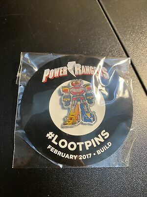 Loot Crate Exclusive Loot pin February 2017 Power Rangers