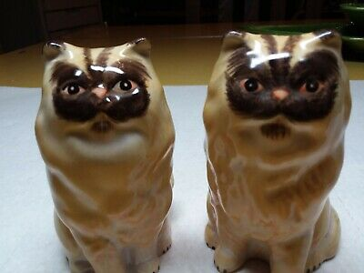 Vintage Sitting Cats S&P Shakers