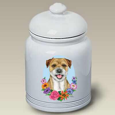 Border Terrier Ceramic Treat Jar TP 47122