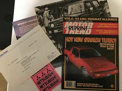 1982-83 Mitsubishi Articles, Road and Track Test, Official Sales Flyer - Loc2-67