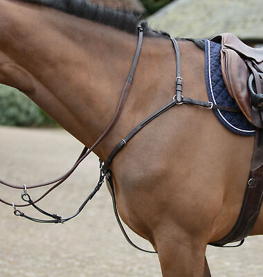 Black Full Mark Todd Leather Standing Martingale