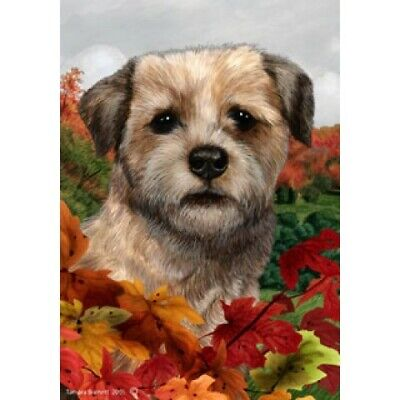 Fall House Flag - Border Terrier 13122