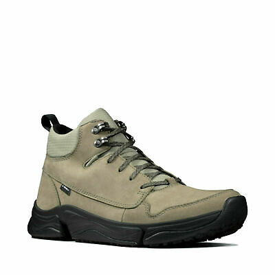 Clarks Tri Path Hike Mid Black Leather Lace Up Mens Hiking Boots 261476077