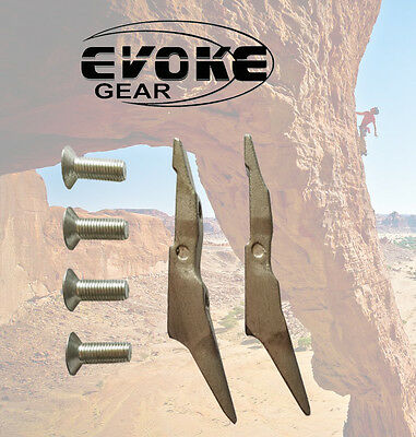Replacement Gaffs For Pole Climbing Spikes / Spurs Set With Screws Evoke Gear