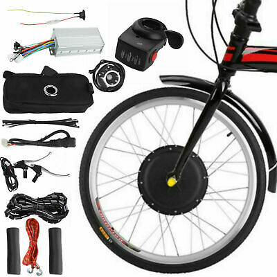 """26"""" 48V 1000W Electric Bicycle Front Wheel Ebike Hub Motor Conversion Kit 44"""