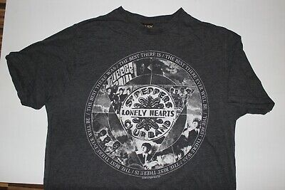The Beatles OFFICIAL T-Shirt Mr Kite Snow Wash Sgt Peppers Lonely Hearts B4