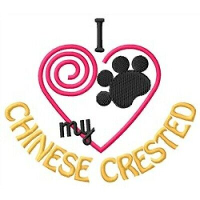"""I """"Heart"""" My Chinese Crested Short-Sleeved T-Shirt 1408-2 Size S - XXL"""