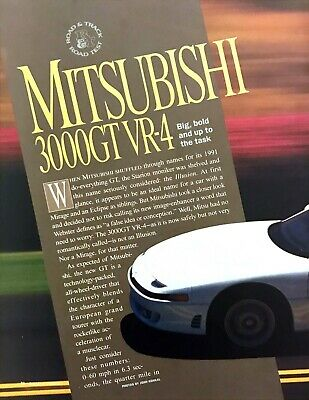 1991 Mitsubishi 3000GT VR-4 Coupe Road Test Technical Data Review Article