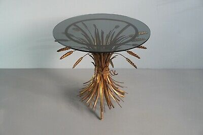 50s Side Table Sheaf Of Wheat Fire-Gilded Coco Chanel 1.Z