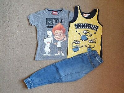 Boys Next T shirts And H&M Joggers Jeans 5-6 Years
