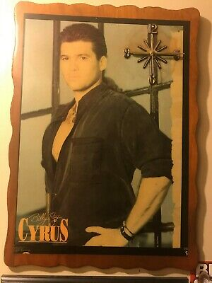 JEBCO Limited Edition Rare Sample Of 10,000 Billy Ray Cyrus Wood Wall Clock