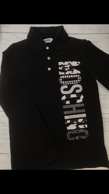 Boys MOSCHINO Black Long Sleeve Polo - Age 12