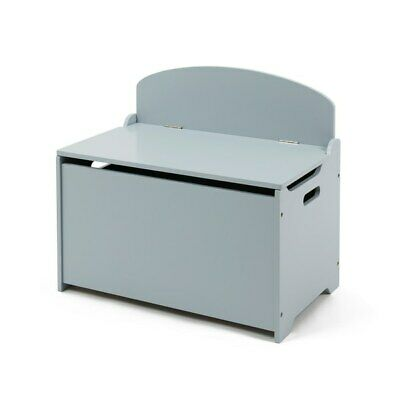 Toy Box In Grey Toys Storage Kids Safe Close Cabinet Portable 2 Handles Solid