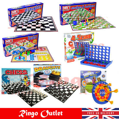 Classic Traditional Family Board Games Kids Children Indoor Gift Toys Chess Ludo