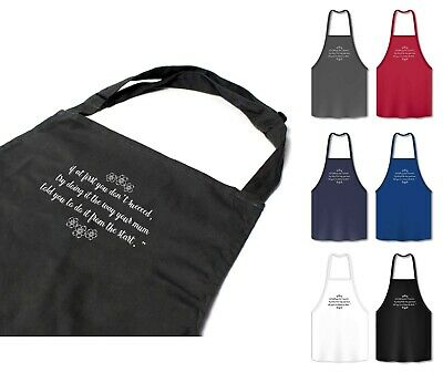Mothers Day Gifts Apron Chef Cooking Baking Embroidered Gift 72