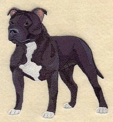 Embroidered Ladies Short-Sleeved T-Shirt - Staffordshire Bull Terrier C4894