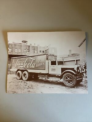 Coca-Cola 11x14 Black White Photo Print -- Drink In Bottles Delivery Truck