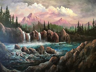 "Original Painting by Todd Cox   16 x 20  ""Mountain Falls"""