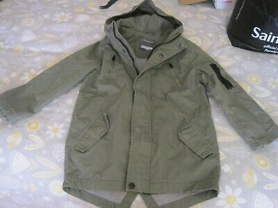 boys jacket - khaki green - size 7/8 yrs 128cm - Primark