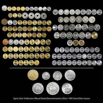 Syria Coin Collection (Over 140 Coins) Mixed Date / Denominations Rare Issues