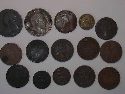 FOREIGN COIN WORLD MONEY CURRENCY OLDER 1800'S-1900'S 1,5,10,25,50 HUGH lot