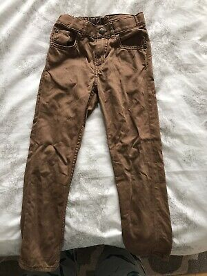 H&M Boys Brown Smart Regular Fit Trousers - Age 5-6 Years