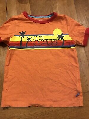 LITTLE BIRD girls Boys Unisex Orange Summer 74 Tee T Shirt Top 3 - 4 Worn Once