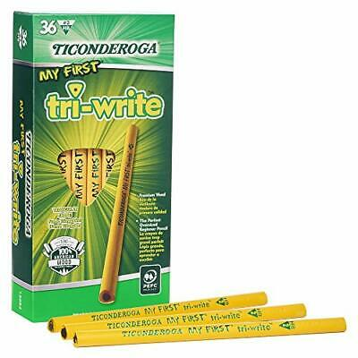 Ticonderoga My First Tri-Write Pencils without Eraser Primary Size Wood-Cased...