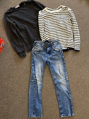 Boys Jeans By Next Age 6 And 2 Jumpers By H&M Age 6-8 Yrs Set