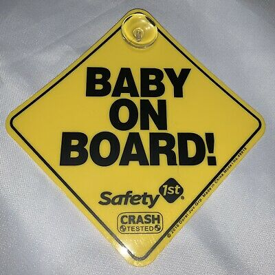 Euc Baby On Board Suction Cup Car Sign